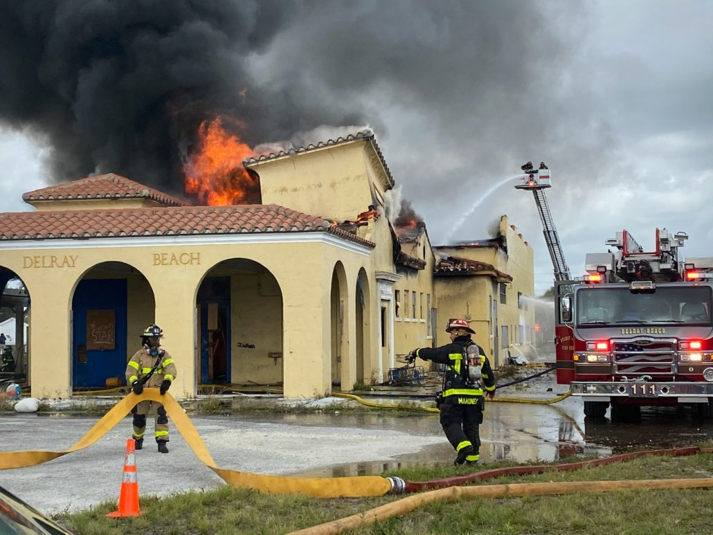 delray train station fire